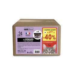 Les cuisinés pour chat recette n°24 Homard/Tourteau 8x80g