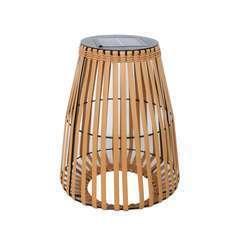 Lanterne solaire décorative SHADY marron polyrotin - H43cm