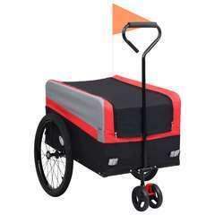 Remorque poussette à vélo 2en1 pour animaux XXL Rouge