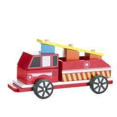 Camion de pompier à construire en bois