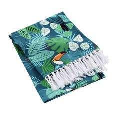 Fouta à franges Cocobello coton - 100x200 cm