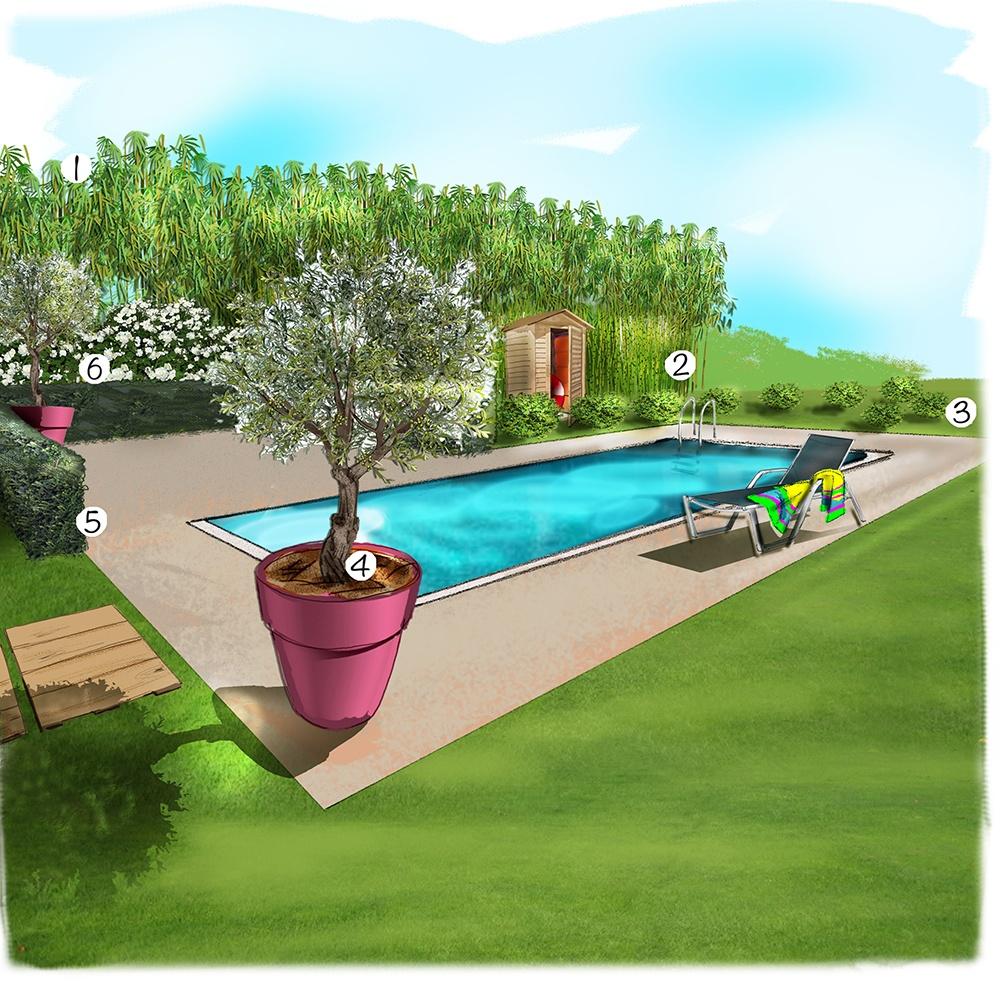 Aménagement bords de piscine