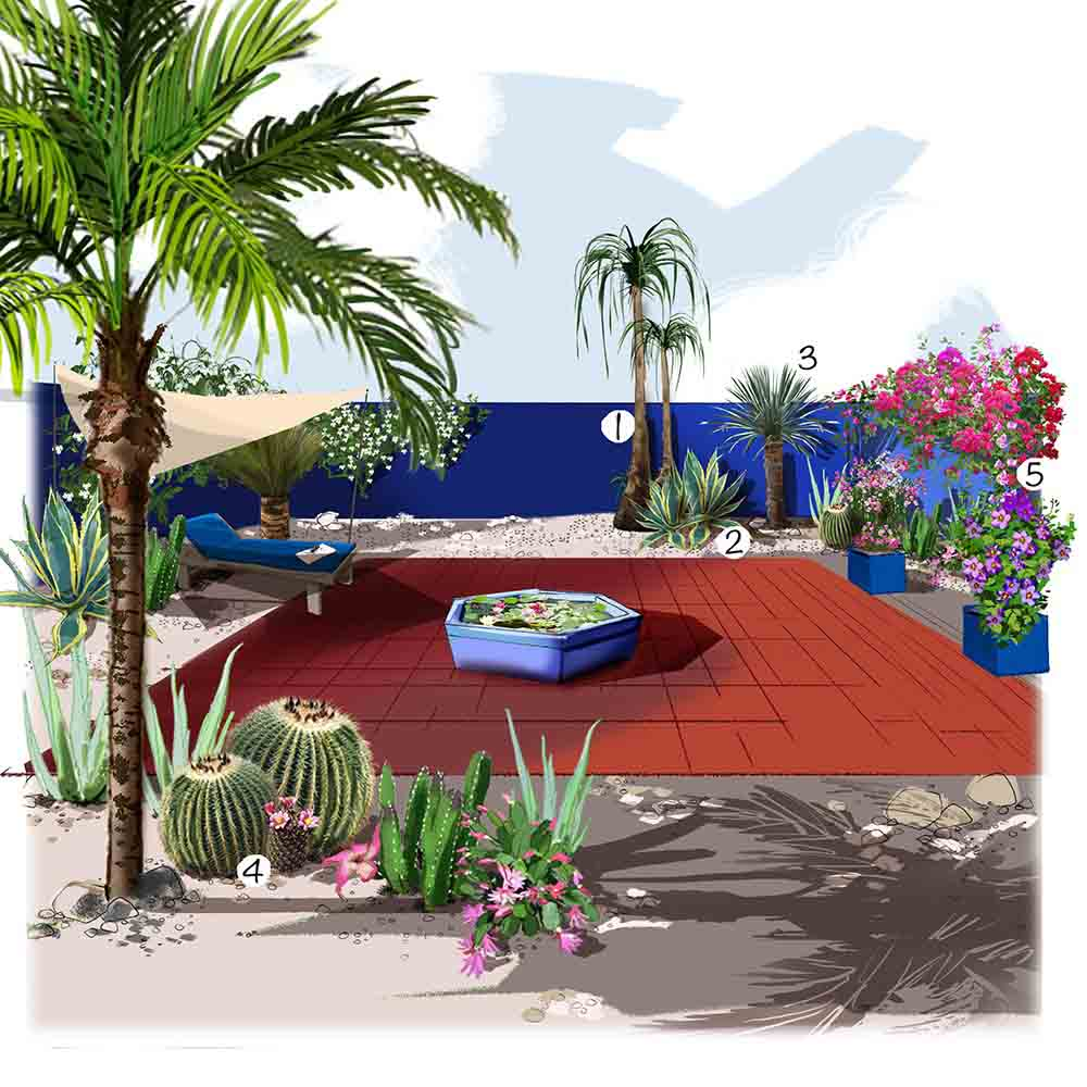 Jardin marocain
