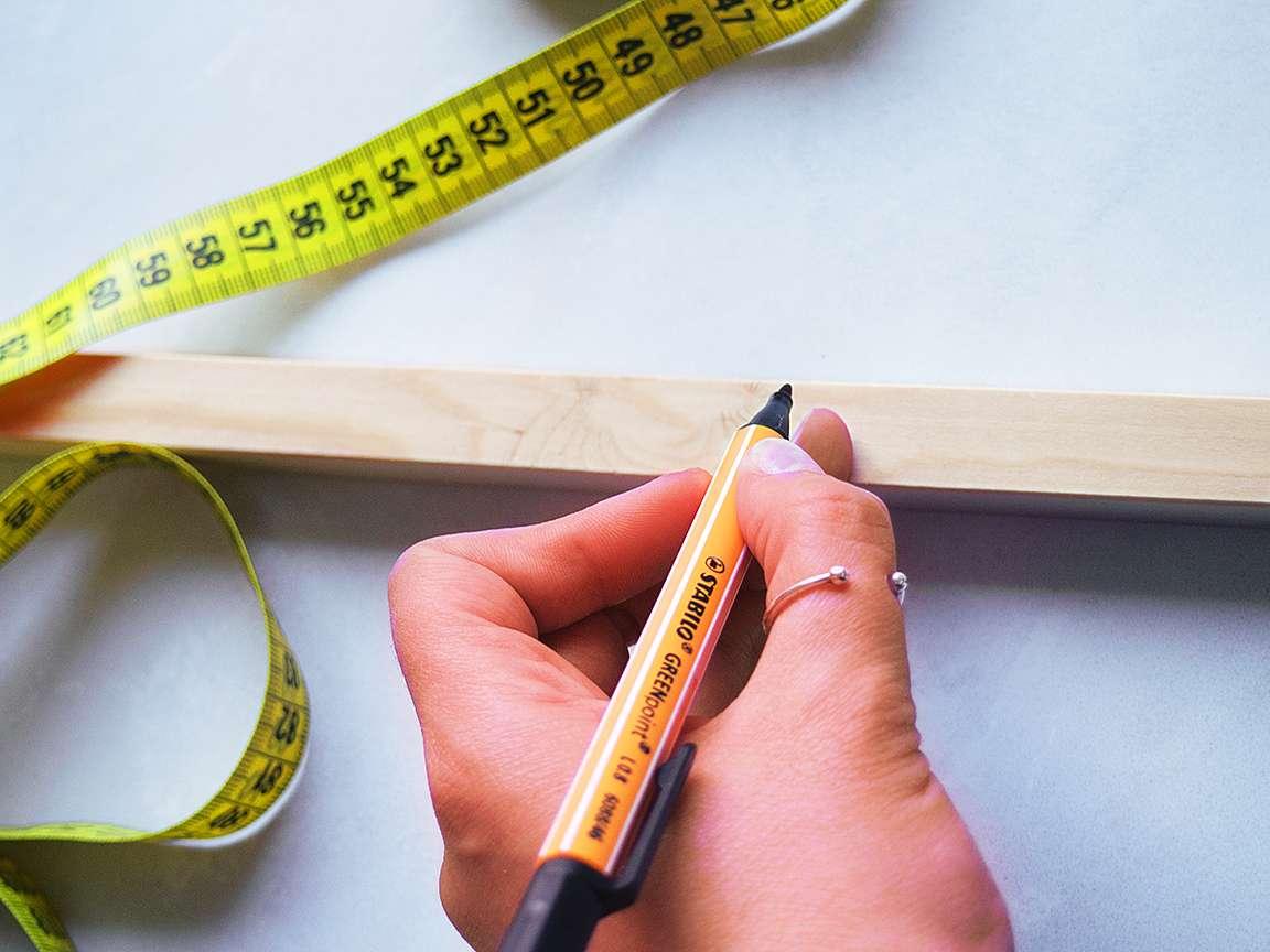 Construction de la base en bois