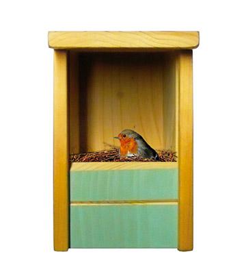 nichoir semi-ouvert oiseaux