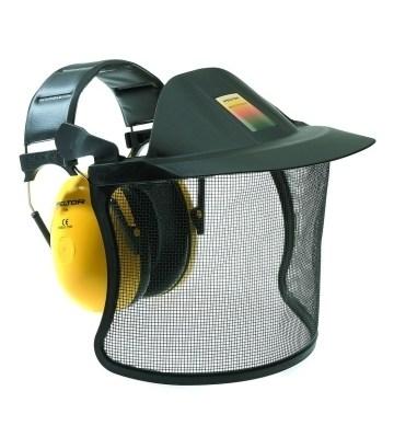 casque anti-bruit et visiere de protection