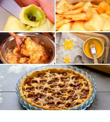 Garniture de la tarte aux pommes