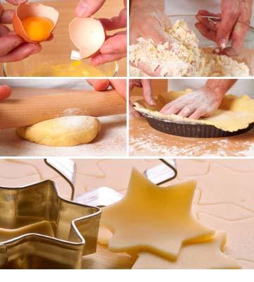 Préparation pâte sablée pour tarte