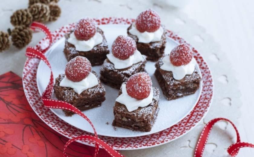 Brownies de noel au chocolat