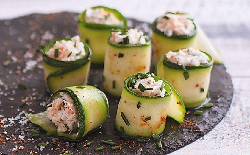 sushis de courgettes