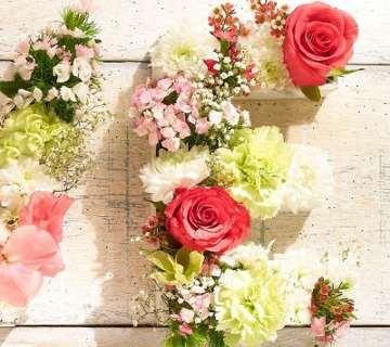 Réalisation lettres fleuries