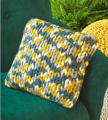 coussin tricote