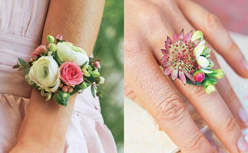 DIY bracelet bague fleuris