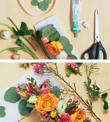 création bijoux en fleurs