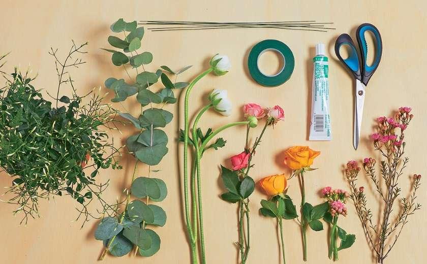 DIY bijoux en fleurs matériel