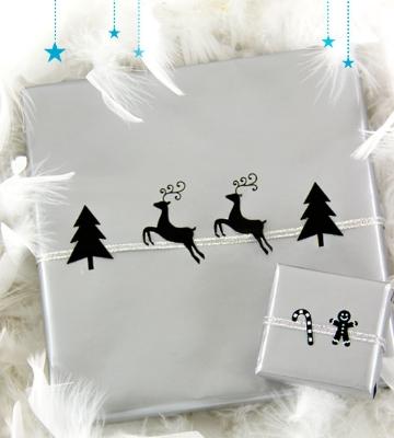 Papier cadeau argenté