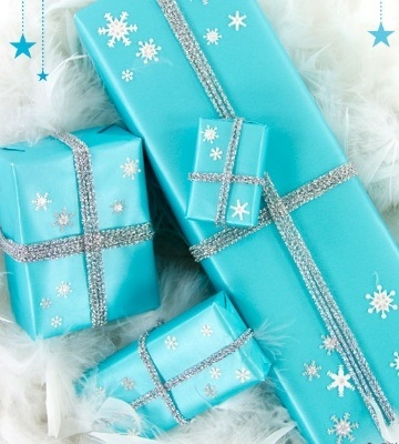 Paquet cadeau flocon de neige