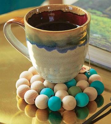 dessous mug en perles