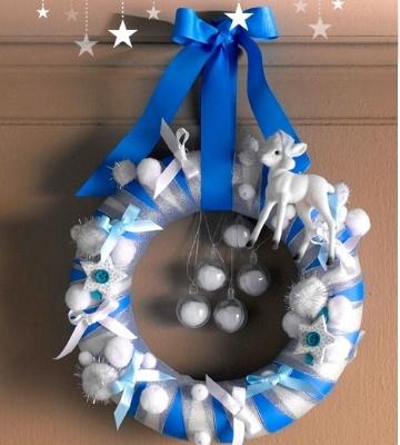 Couronne de Noël en polystyrène