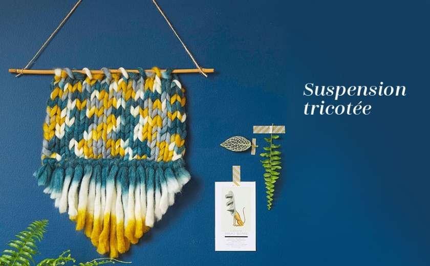 DIY suspension tricotée