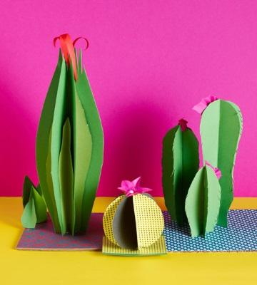 cactus papier 3D
