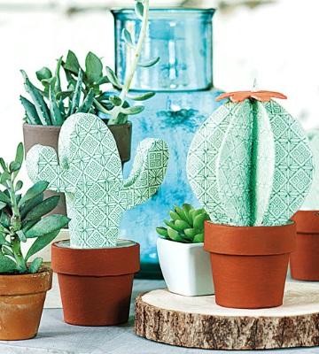 cactus papier mâché
