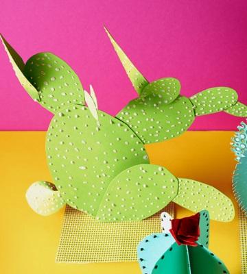 cactus en papier plat