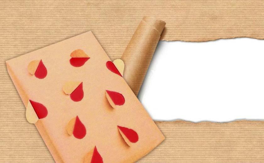 papier cadeau romantique