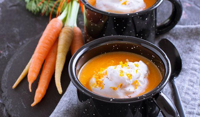 Cappuccino aux carottes et yuzu