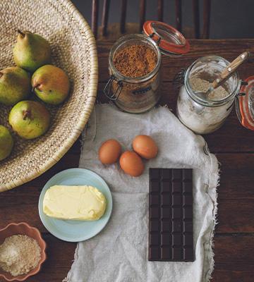Ingrédients pour le moelleux poire chocolat