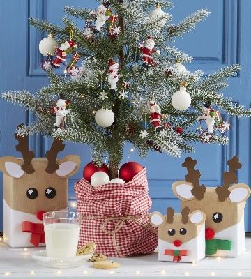 Papier cadeau renne de Noël