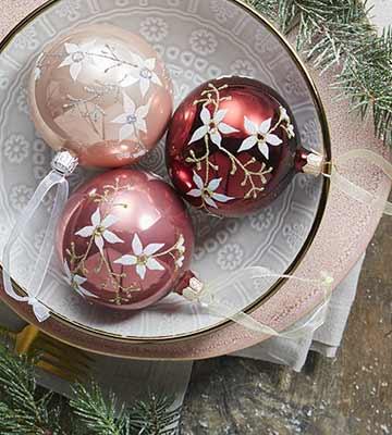 Boules de noël décorées