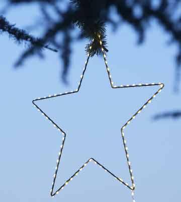 étoile lumineuse de noël