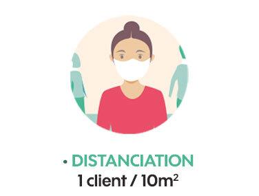 Distanciation 1 client/10m2