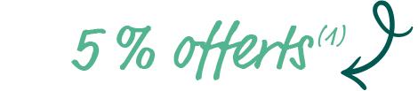 5 % offerts (1)