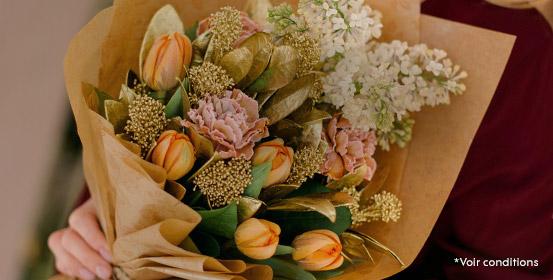Vos fleurs livrées à partir de 48h partout en France*