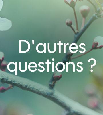 D'autres questions ?
