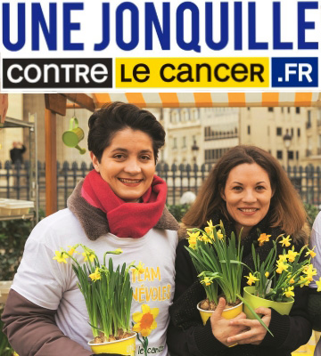 Truffaut soutient une Jonquille contre le cancer